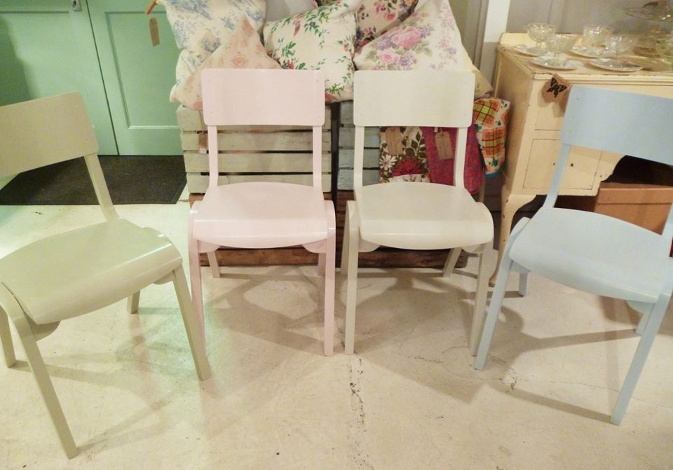 stacking pastel & Painted Furniture | The Vintage Tableware Company